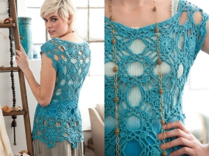 Debbie Bliss Eco Baby Lacy Top Kit - Crochet for Adults