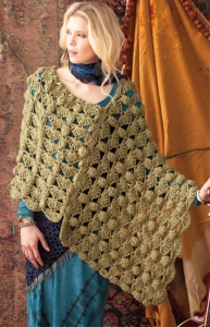 Lorna's Laces Shepherd Worsted Bulky Poncho Kit - Crochet for Adults