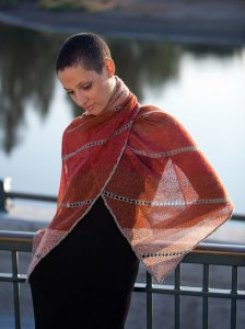 Isager Wool 1 Dawn Shawl Kit - Scarf and Shawls