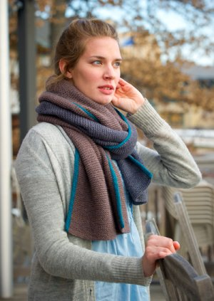 The Fibre Company Patterns - Basalt Wrap + Scarf Pattern