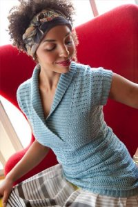 Manos del Uruguay Serena Lauren Sweater Kit - Crochet for Adults