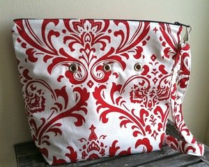 Top Shelf Totes Yarn Pop - Totable - Bold Red Fleur - Stitch Red