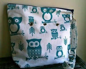 Top Shelf Totes Yarn Pop - Totable - Turquoise Owls