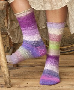 Noro Taiyo Sock Cabled Socks Kit - Socks