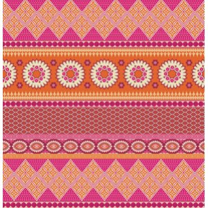 Joel Dewberry Notting Hill Fabric - Banded Bliss - Tangerine