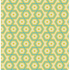 Joel Dewberry Notting Hill Fabric - Hexagons - Aquamarine