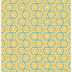 Joel Dewberry Notting Hill Fabric - Hexagons - Canary