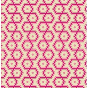Joel Dewberry Notting Hill Fabric - Hexagons - Magenta