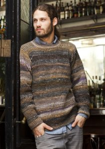 Noro Kureyon Men's Ribbed Sweater Kit - Mens Sweaters