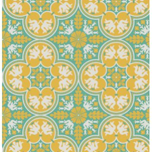Joel Dewberry Notting Hill Fabric - Historic Tile - Canary