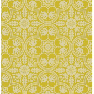 Joel Dewberry Notting Hill Fabric - Historic Tile - Citron
