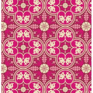 Joel Dewberry Notting Hill Fabric - Historic Tile - Plum