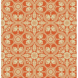 Joel Dewberry Notting Hill Fabric - Historic Tile - Tangerine