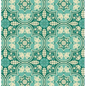 Joel Dewberry Notting Hill Fabric - Historic Tile - Teal