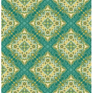 Joel Dewberry Notting Hill Fabric - Kaleidoscope - Basil