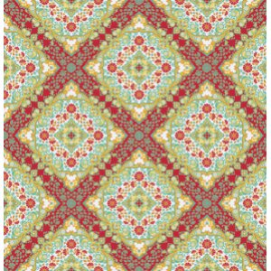 Joel Dewberry Notting Hill Fabric - Kaleidoscope - Poppy