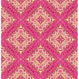 Joel Dewberry Notting Hill Fabric - Kaleidoscope - Tangerine