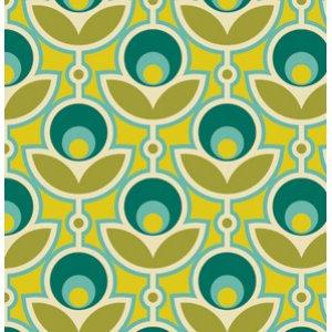 Joel Dewberry Notting Hill Fabric - Primrose - Aquamarine