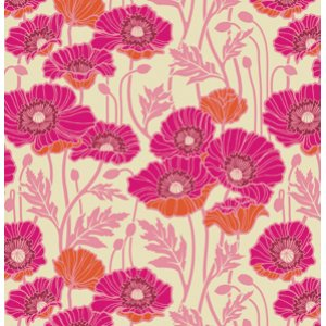 Joel Dewberry Notting Hill Fabric - Pristine Poppy - Magenta