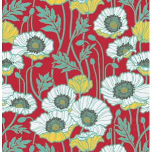 Joel Dewberry Notting Hill Fabric - Pristine Poppy - Poppy