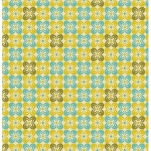 Joel Dewberry Notting Hill Fabric - Square Petal - Citron