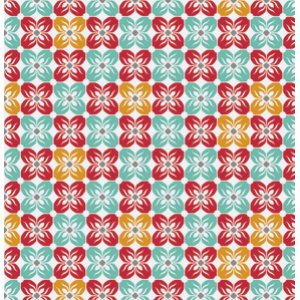 Joel Dewberry Notting Hill Fabric - Square Petal - Poppy