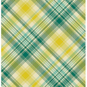 Joel Dewberry Notting Hill Fabric - Tartan - Aquamarine