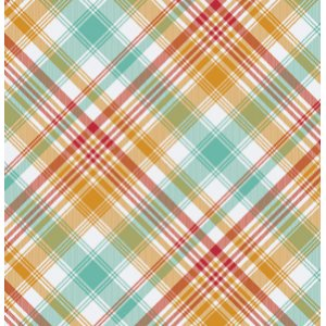 Joel Dewberry Notting Hill Fabric - Tartan - Poppy