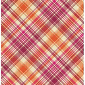 Joel Dewberry Notting Hill Fabric - Tartan - Tangerine