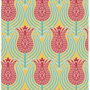 Joel Dewberry Notting Hill Fabric - Tulips - Canary