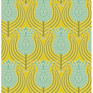 Joel Dewberry Notting Hill Fabric - Tulips - Fern