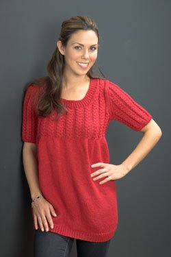 Plymouth Women's Top & Tank Patterns - 2511 Encore Worsted Tee Pattern
