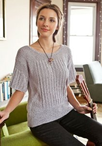 Berroco Captiva Pern Shortsleeve Sweater Kit - Women's Pullovers