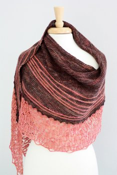 Rosemary Romi Hill Patterns - Home Is Where The Heart Is Patterns - Shawl #3: Coyote Trail