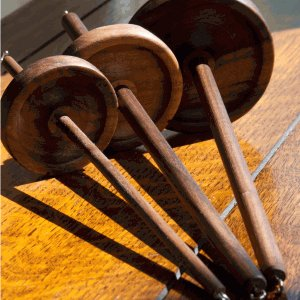 Wool Tree Mill Drop Spindle - Walnut - Large