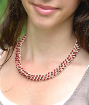Javori Designs Tiffany Necklace - Ruby