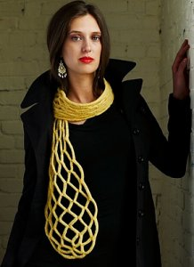 Imperial Yarn Bulky 2-Strand Honeycomb Scarf Kit - Scarf and Shawls