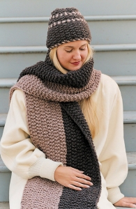 Imperial Yarn Bulky 2-Strand Canyon Divide Scarf and Hat Kit - Hats and Gloves