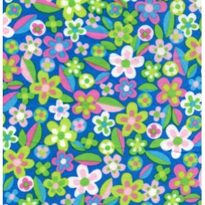 Erin McMorris Irving Street Flannel Fabric - Meadow - Blue