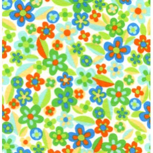 Erin McMorris Irving Street Flannel Fabric - Meadow - Green