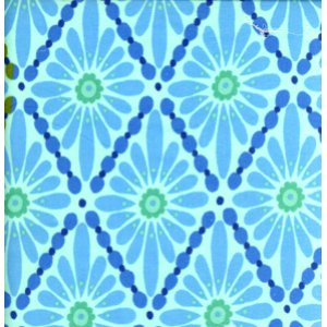Valori Wells Urban Flannels Fabric - Floral Diamonds - Blue