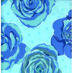 Valori Wells Urban Flannels Fabric - Roses - Blue