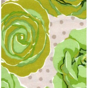 Valori Wells Urban Flannels Fabric - Roses - Green