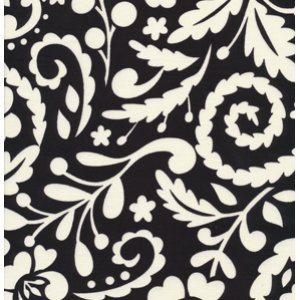 Dena Designs McKenzie Fabric - Silhouette - Black