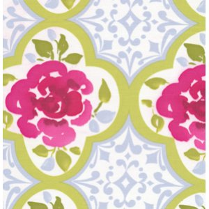 Dena Designs Tea Garden Fabric - Ming - Fuchsia