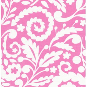 Dena Designs Tea Garden Fabric - Silhouette - Fuschia
