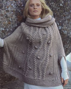 Bergere de France Cocoon Poncho Kit - Women's Pullovers