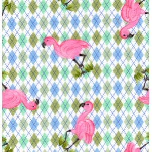 Donna Dewberry Noah's Ark Flannel Fabric - Flamingo - Multi