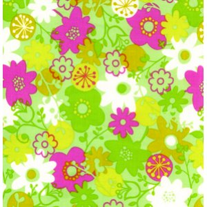 Erin McMorris Wildwood Fabric - Flower Shower - Fuchsia