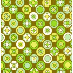 Erin McMorris Wildwood Fabric - Buttons - Olive